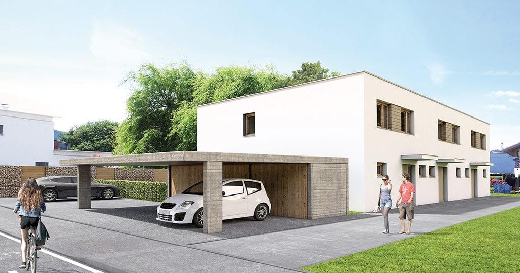 Die Neue Reihenhaus Anlage Von Muller Wohnbau In Altach Andreas