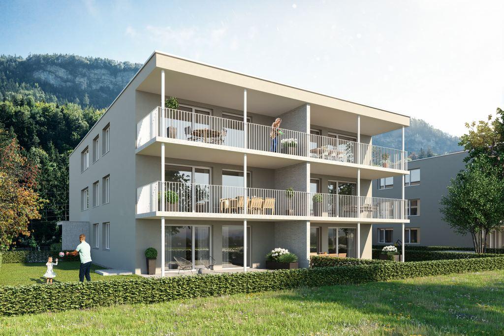 Wohnanlage Frauensteinweg Feldkirch Gartenland Wohnbau GmbH
